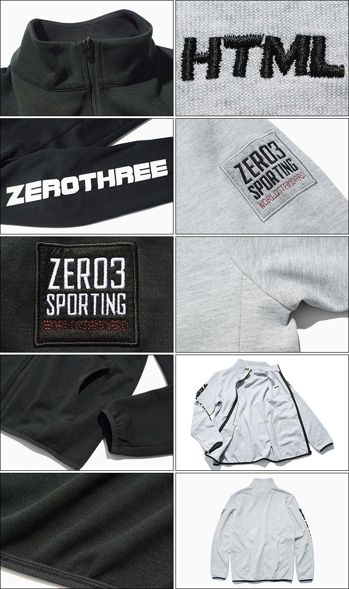HTML ZERO3エイチティエムエル ゼロスリーのジャケット Gymnasium Dry Sweat Zip11