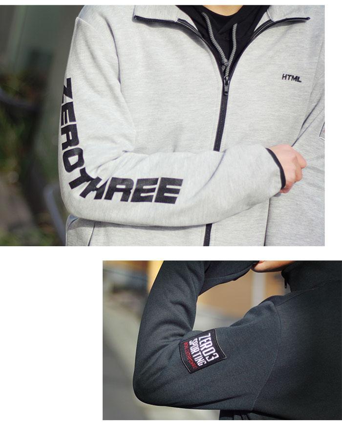 HTML ZERO3エイチティエムエル ゼロスリーのジャケット Gymnasium Dry Sweat Zip03