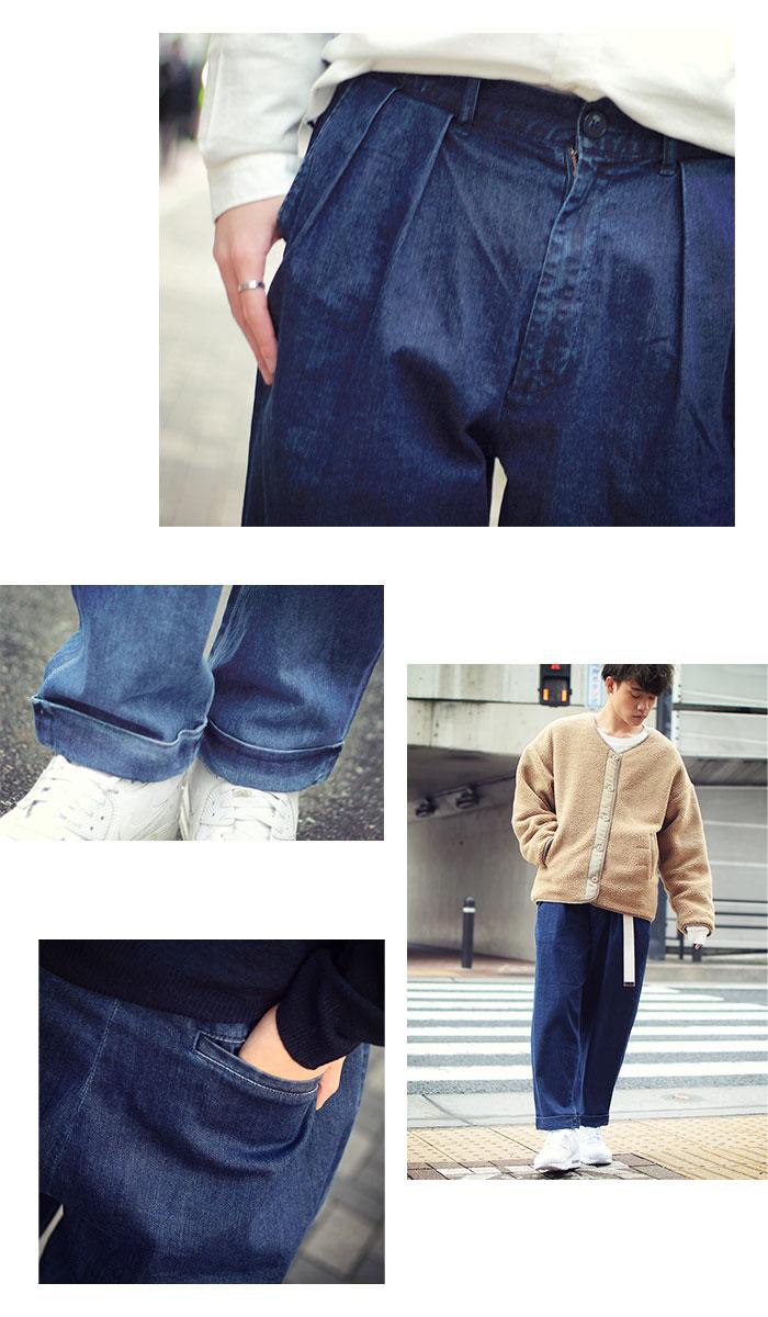 HTML ZERO3エイチティエムエル ゼロスリーのパンツ Comfort Wide Denim Pant07