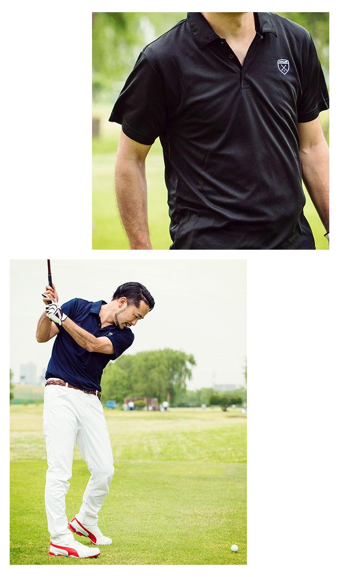 HTML ZERO3エイチティエムエル ゼロスリーのポロシャツ Golfers Polo04