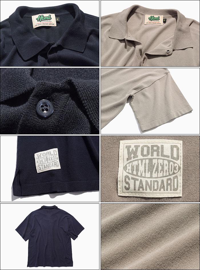 HTML ZERO3エイチティエムエル ゼロスリーのシャツ Strategist S/S Knit Shirt12