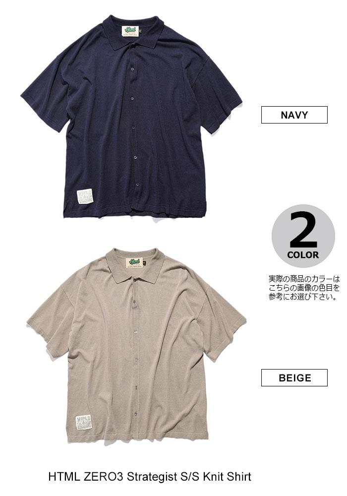 HTML ZERO3エイチティエムエル ゼロスリーのシャツ Strategist S/S Knit Shirt10