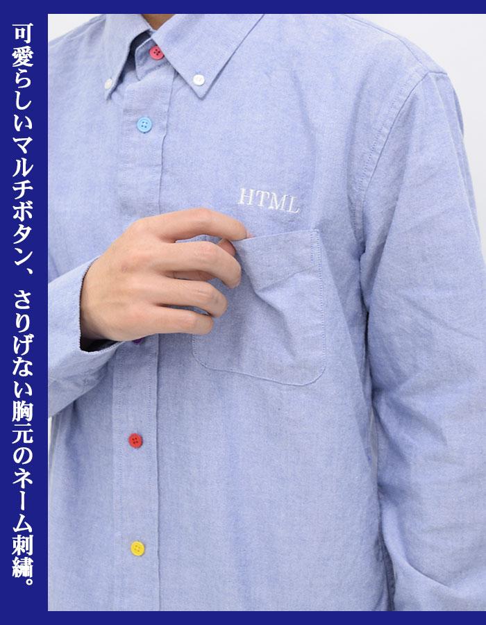HTML ZERO3エイチティエムエル ゼロスリーのシャツ Various Button Oxford10