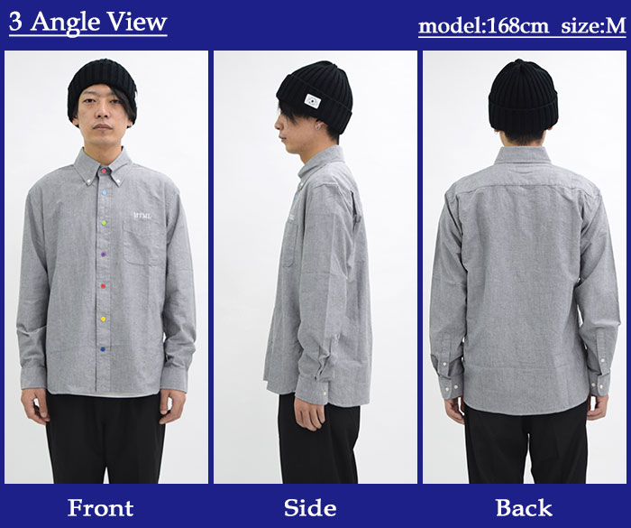 HTML ZERO3エイチティエムエル ゼロスリーのシャツ Various Button Oxford12