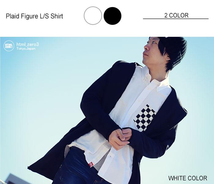 HTML ZERO3エイチティエムエルのシャツ Plaid Figure06