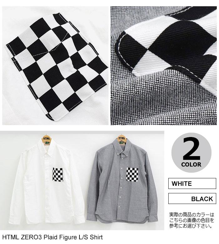 HTML ZERO3エイチティエムエルのシャツ Plaid Figure10