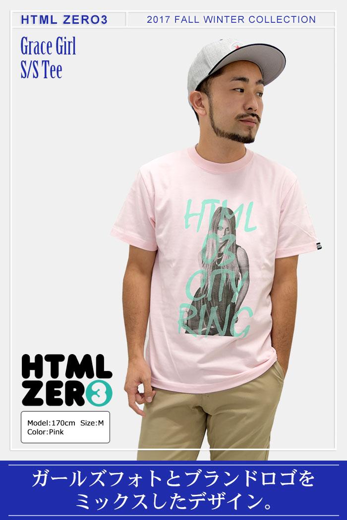 HTML ZERO3エイチティエムエル ゼロスリーのTシャツ Grace Girl01