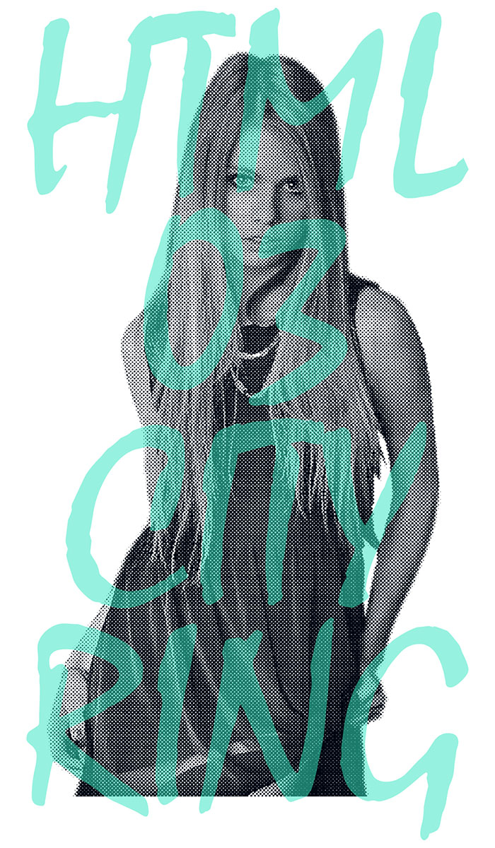 HTML ZERO3エイチティエムエル ゼロスリーのTシャツ Grace Girl08
