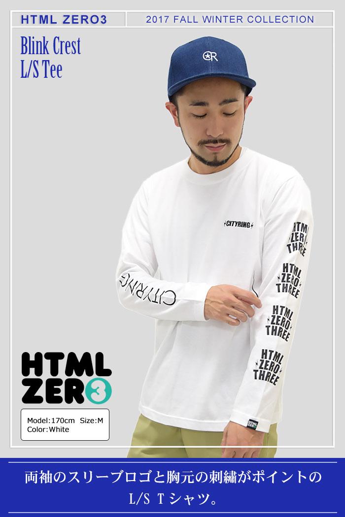 HTML ZERO3エイチティエムエル ゼロスリーのTシャツ Blink Crest01
