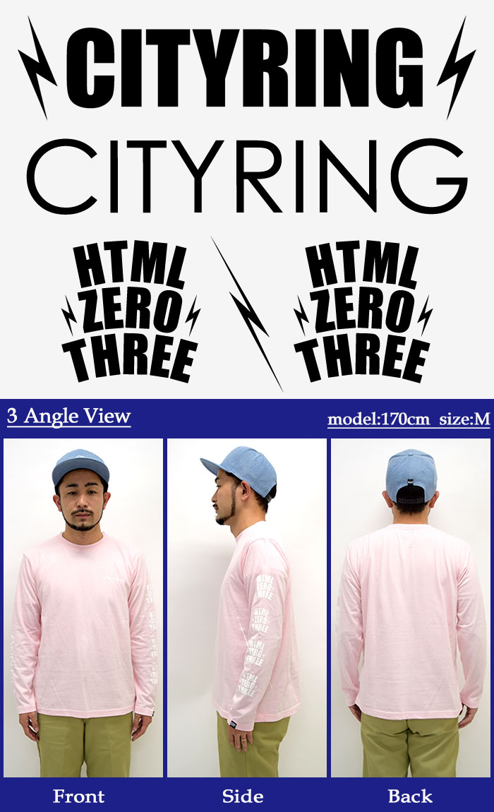 HTML ZERO3エイチティエムエル ゼロスリーのTシャツ Blink Crest09