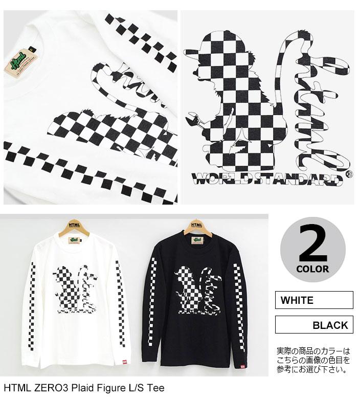 HTML ZERO3エイチティエムエル ゼロスリーのTシャツ Plaid Figure10