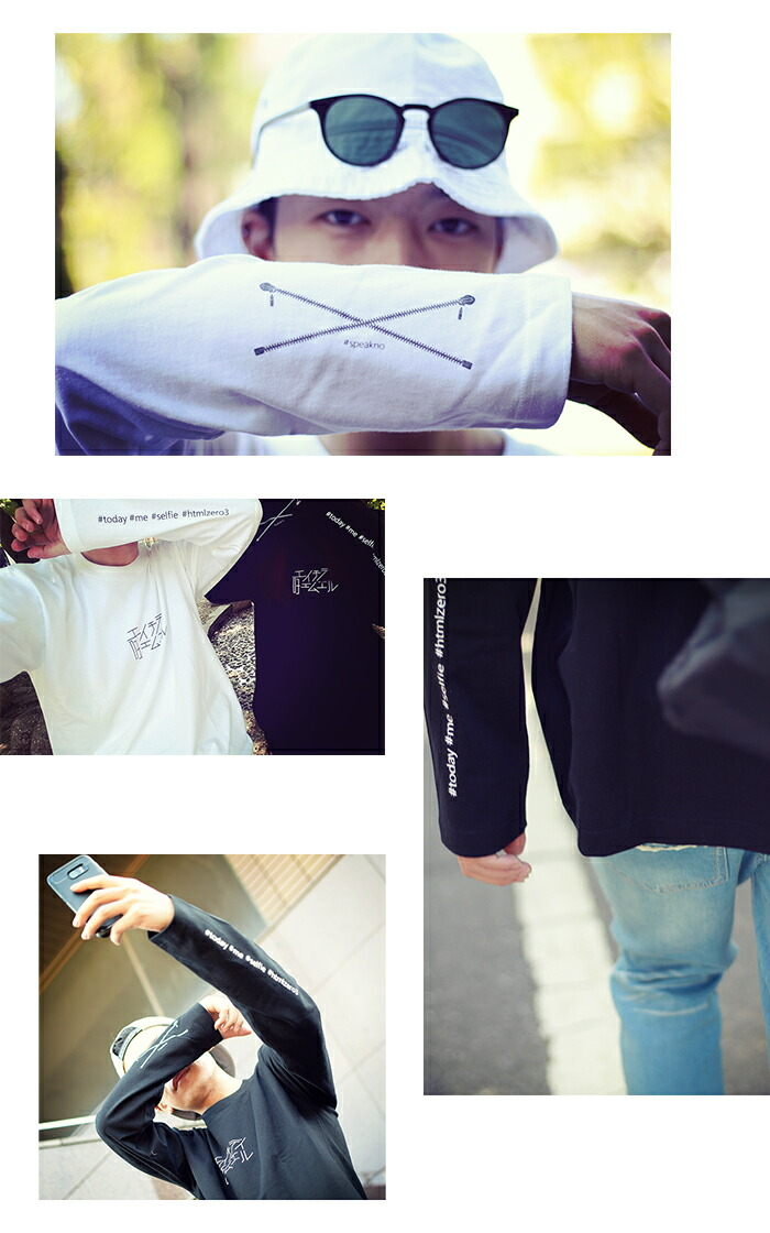 HTML ZERO3エイチティエムエル ゼロスリーのTシャツ Selfie Roll07