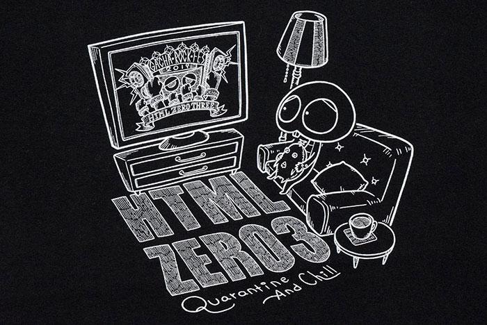 HTML ZERO3エイチティエムエル ゼロスリーのTシャツ HTML ZERO3×Gachapin16