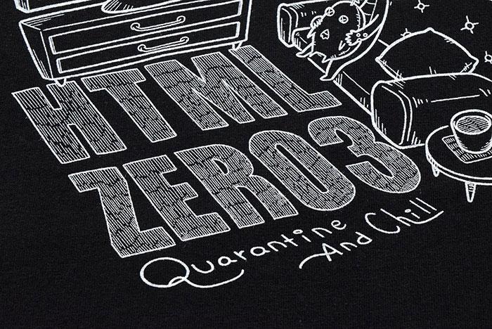HTML ZERO3エイチティエムエル ゼロスリーのTシャツ HTML ZERO3×Gachapin18