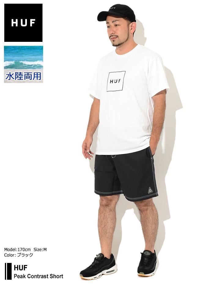 HUFハフのハーフパンツ Peak Contrast Short01