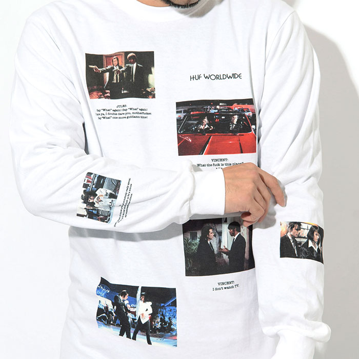 HUFハフのTシャツ PULP FICTION Scenes02