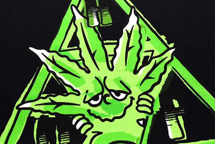 HUFハフのTシャツ Green Buddy TT11