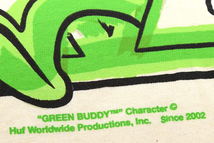 HUFハフのTシャツ Green Buddy TT12