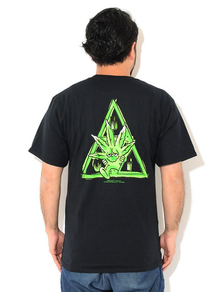 HUFハフのTシャツ Green Buddy TT02