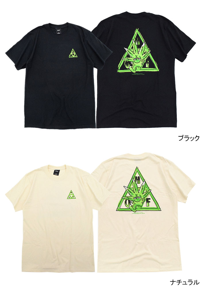 HUFハフのTシャツ Green Buddy TT06