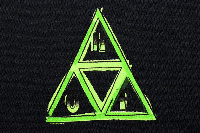 HUFハフのTシャツ Green Buddy TT07