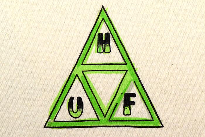 HUFハフのTシャツ Green Buddy TT08