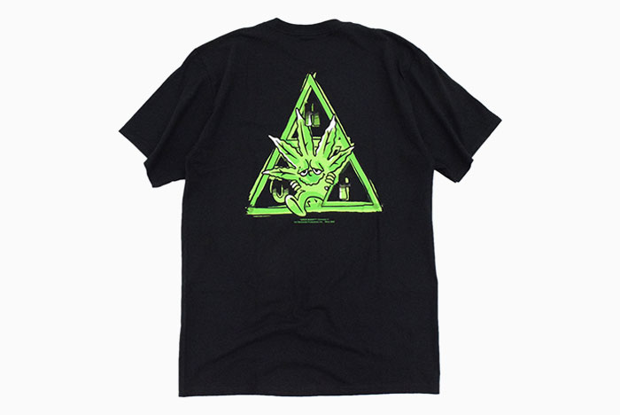 HUFハフのTシャツ Green Buddy TT09