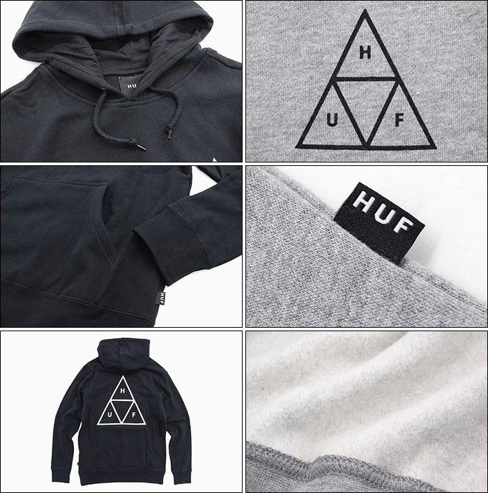 HUFハフのパーカー Essentials Triple Triangle Pullover Hoodie05