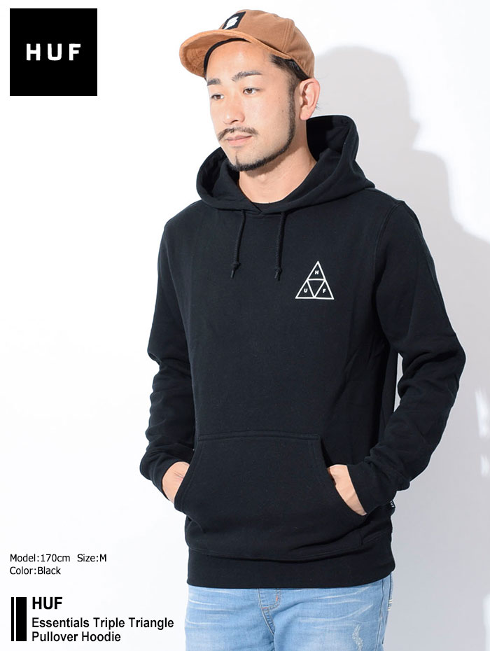 HUFハフのパーカー Essentials Triple Triangle Pullover Hoodie01