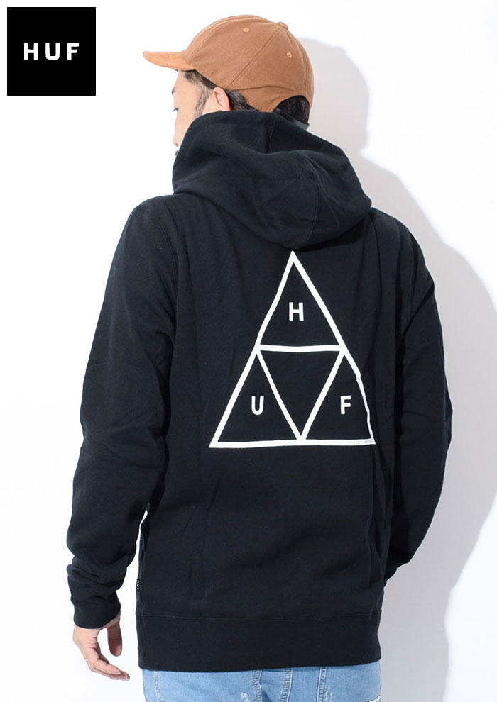 HUFハフのパーカー Essentials Triple Triangle Pullover Hoodie02