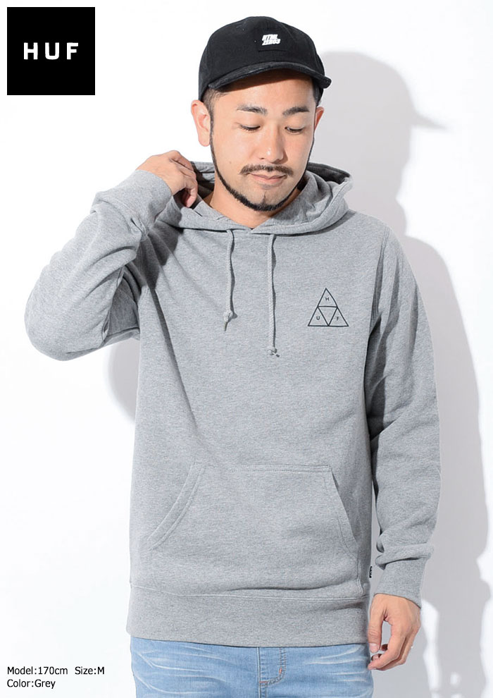 HUFハフのパーカー Essentials Triple Triangle Pullover Hoodie03