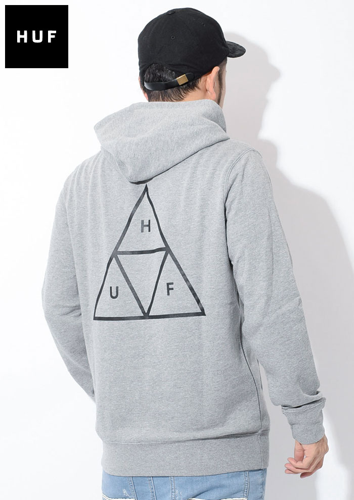 HUFハフのパーカー Essentials Triple Triangle Pullover Hoodie04