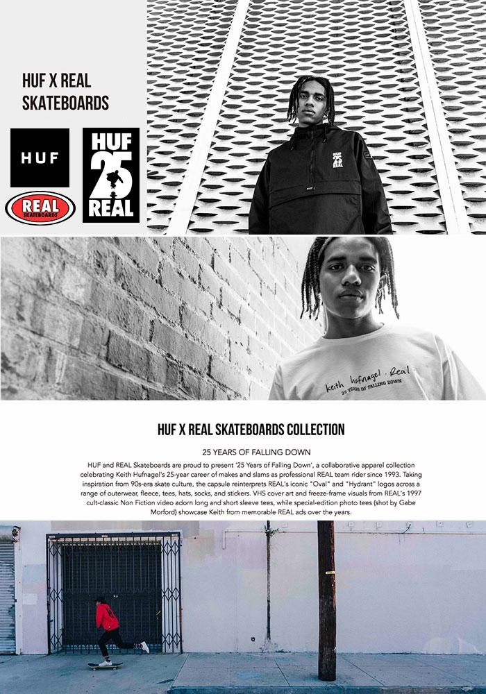 HUFハフのTシャツ REAL SKATEBOARDS Non Fiction01