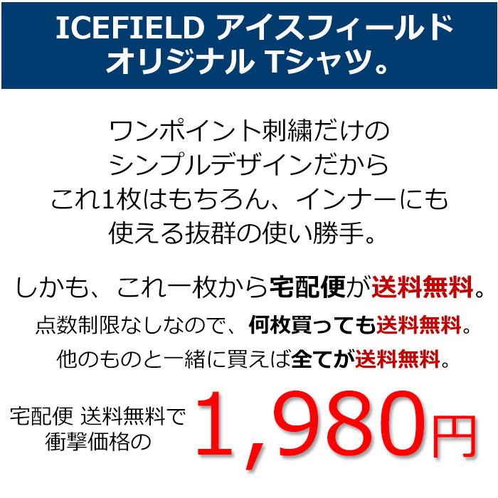 ICEFIELDアイスフィールドのTシャツ Embroidery Logo01