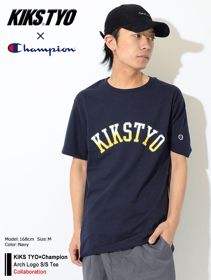 KIKS TYOキックス ティー・ワイ・オーのTシャツ Champion Arch Logo01