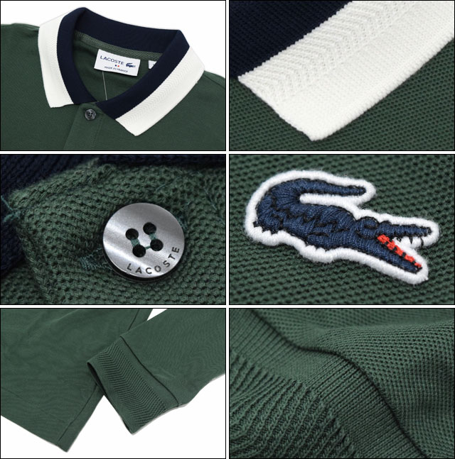 huge inventory 50% price new authentic Lacoste LACOSTE polo shirt long sleeves men PH3081 cotton by color (tops  polo shirt made in lacoste PH3081 Cotton Bicolor L/S Polo Shirt MADE IN ...