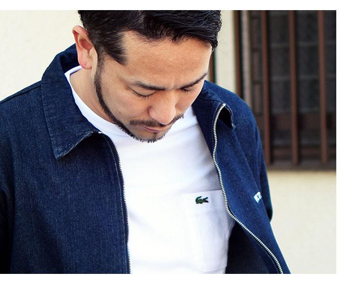 LACOSTEラコステのTシャツ TH633EM Pocket Crew Neck05