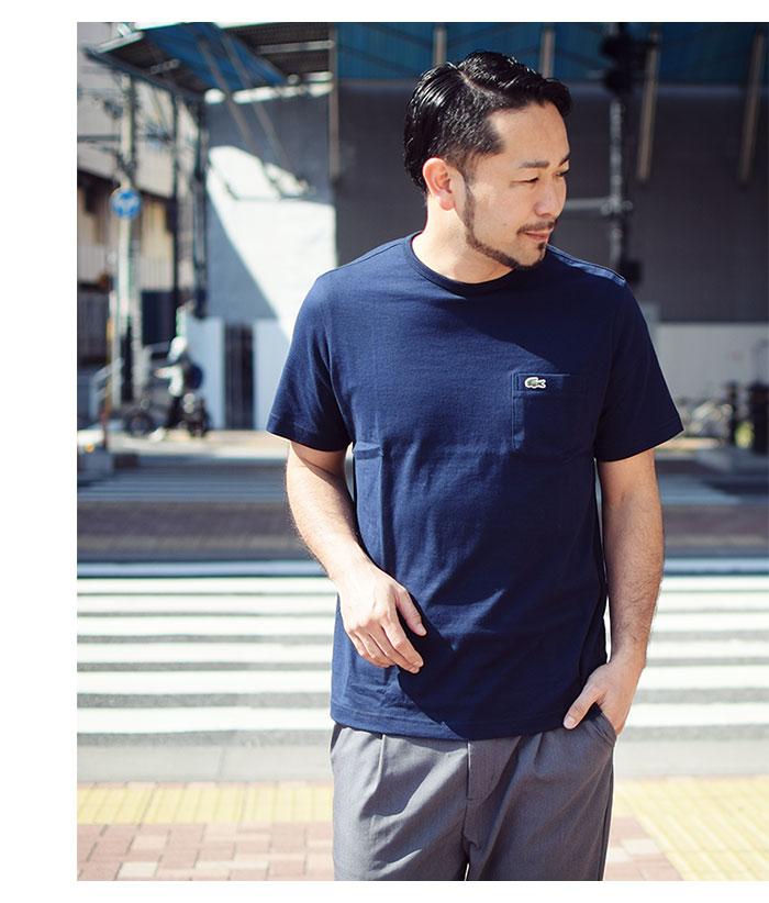 LACOSTEラコステのTシャツ TH633EM Pocket Crew Neck06