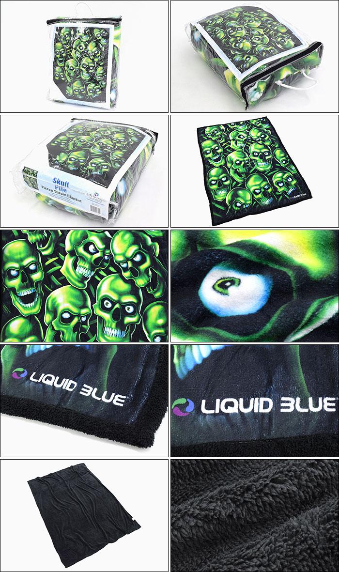 LIQUID BLUEリキッド ブルーのブランケット Skull Pile Fleece Throw Blanket03