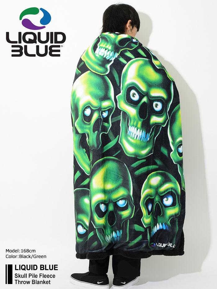 LIQUID BLUEリキッド ブルーのブランケット Skull Pile Fleece Throw Blanket01