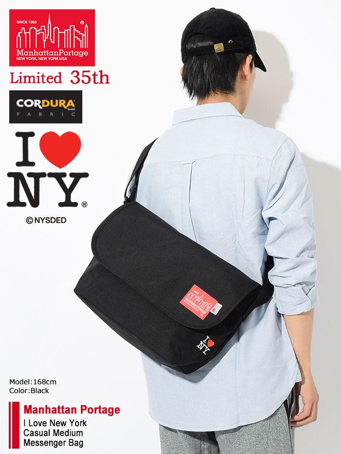 Manhattan Portageマンハッタンポーテージのメッセンジャーバッグ I Love New York Casual Medium Messenger Bag02