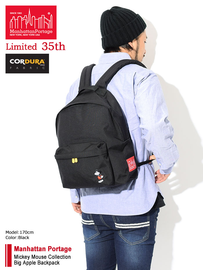 Manhattan Portageマンハッタンポーテージのバッグ Mickey Mouse Collection Big Apple Backpack02