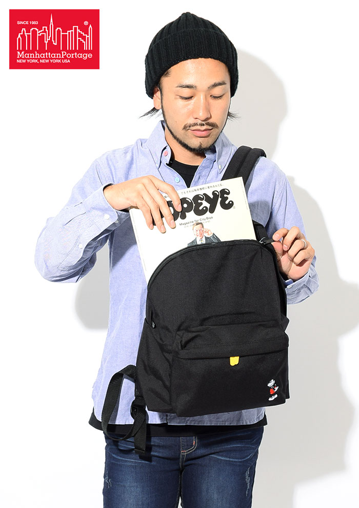 Manhattan Portageマンハッタンポーテージのバッグ Mickey Mouse Collection Big Apple Backpack03