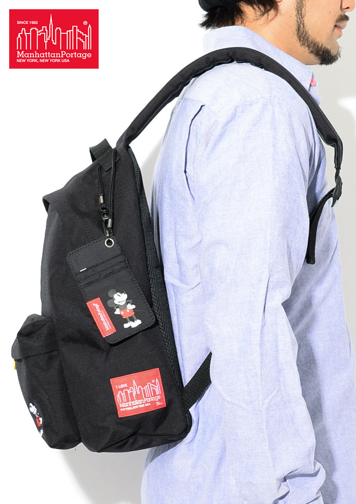 Manhattan Portageマンハッタンポーテージのバッグ Mickey Mouse Collection Big Apple Backpack04