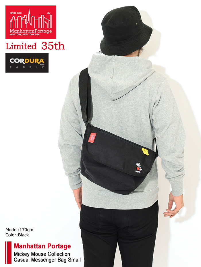 Manhattan Portageマンハッタンポーテージのメッセンジャーバッグ Mickey Mouse Collection Casual Messenger Bag Small02