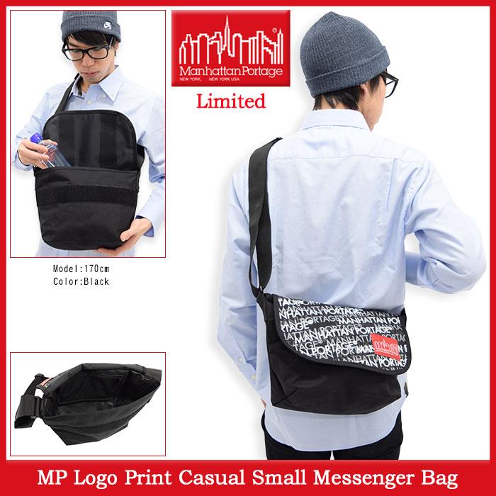 Manhattan Portageマンハッタンポーテージのバッグ MP Logo Print Casual Small Messenger Bag01
