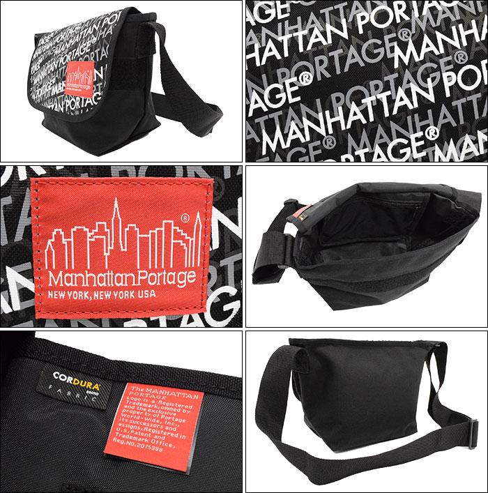 Manhattan Portageマンハッタンポーテージのバッグ MP Logo Print Casual Small Messenger Bag02