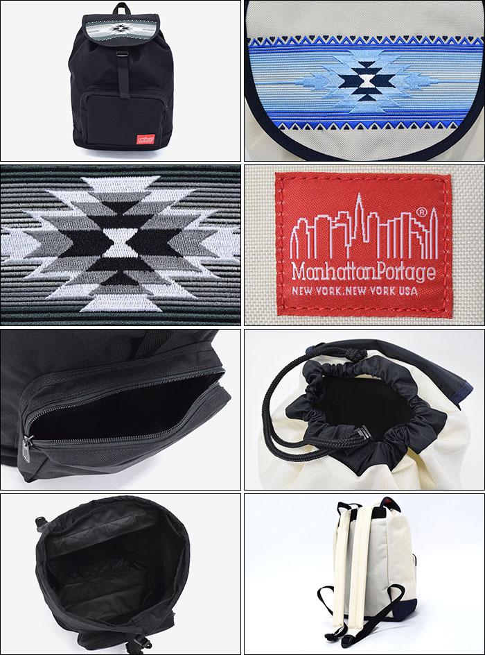 Manhattan Portageマンハッタンポーテージのリュック Tribal Pattern Dakota Backpack02