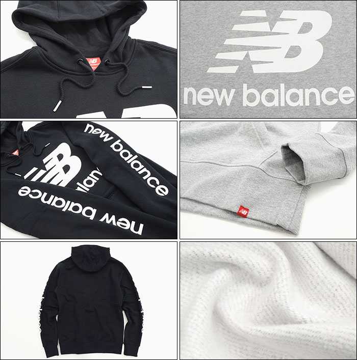 Men's Clothing New Balance Essentials NB Logo Hoodie Black