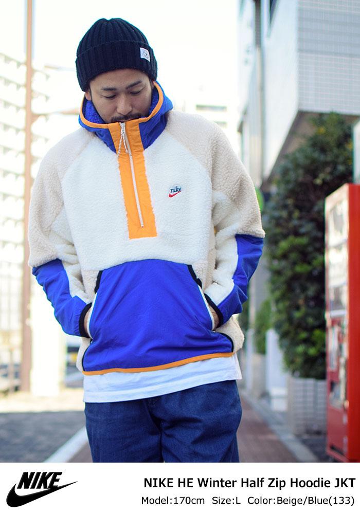 NIKEナイキのジャケット HE Winter Half Zip Hoodie01
